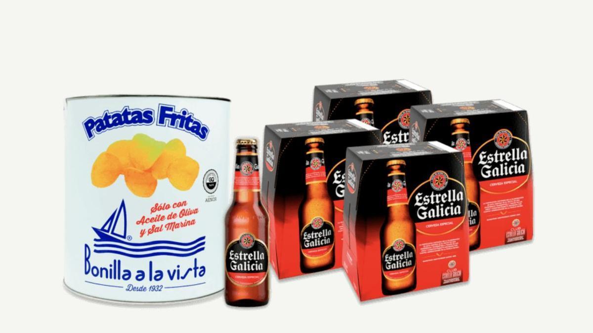 Pack 'Beer & Chips' lanzado por Estrella Galicia y Bonilla a la Vista.