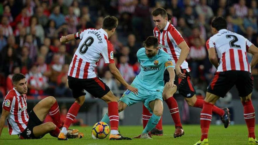 El Barça y Messi alargan su idilio con San Mamés
