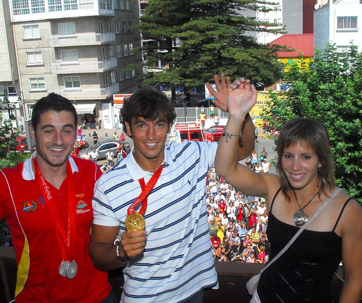 Portela, Perucho y Cal en Cangas tras los Juegos de Pekin 2008
