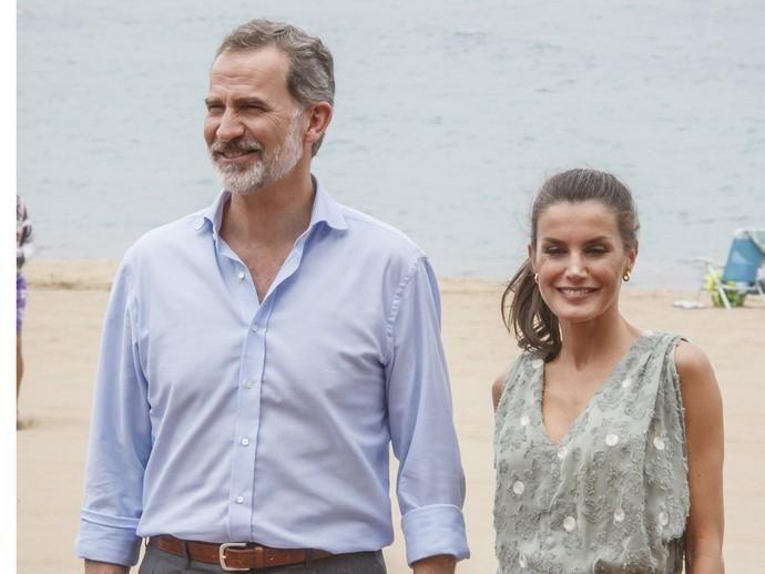 Los Reyes don Felipe y doña Letizia durante su ...