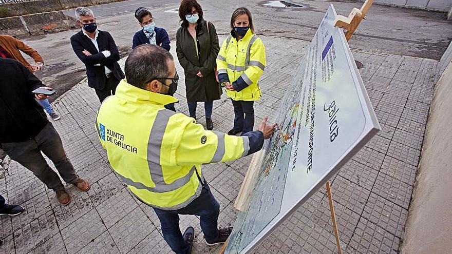 Las obras para la mejora de la depuradora de Placeres, al 40%
