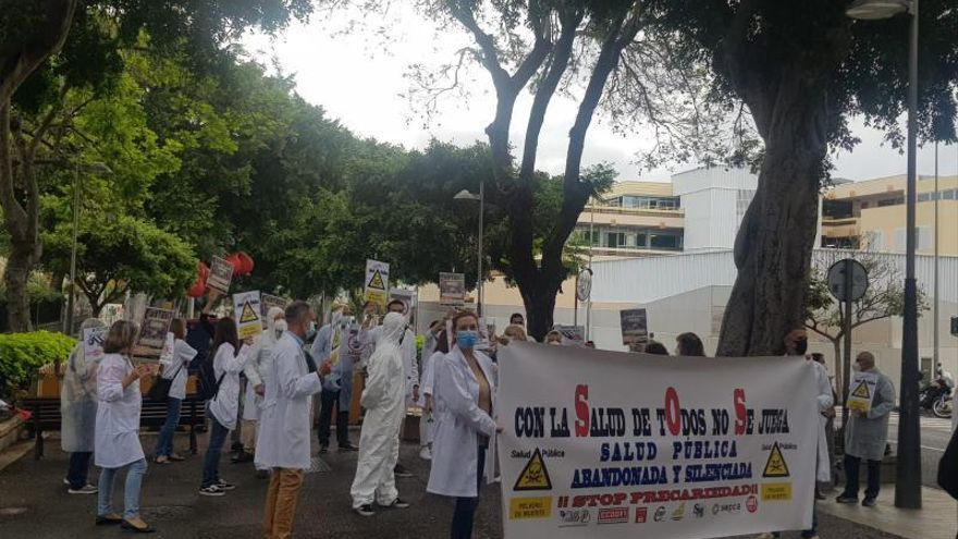 Los inspectores de Salud Pública de Tenerife se manifiestan