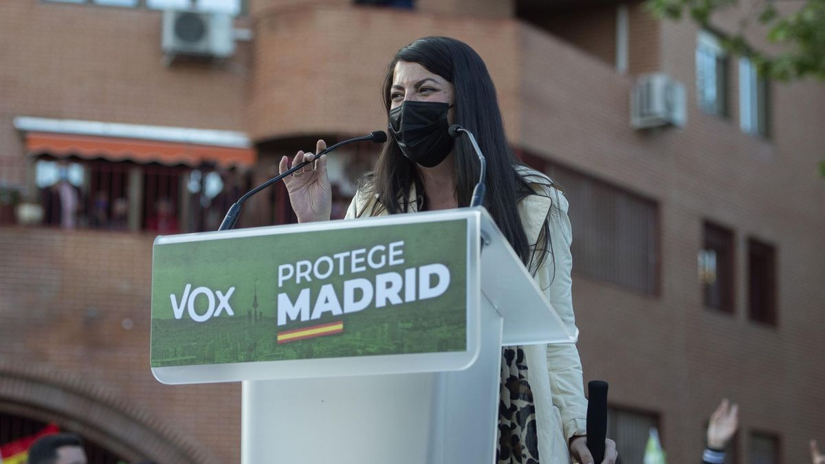 Macarena Olona, en el acto de Vallecas