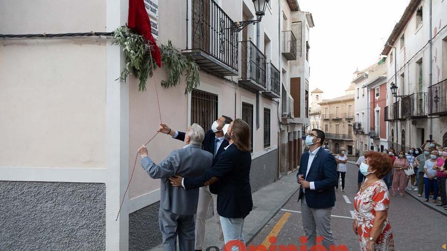 Caravaca dedica una calle a Manuel Sánchez Robles, Manolo 'Mané'