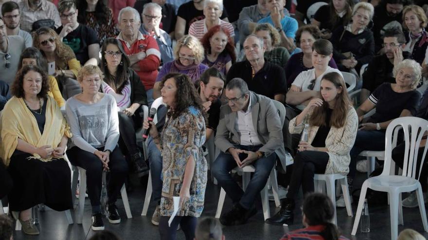 Pablo Iglesias arranca la campaña electoral en Palma