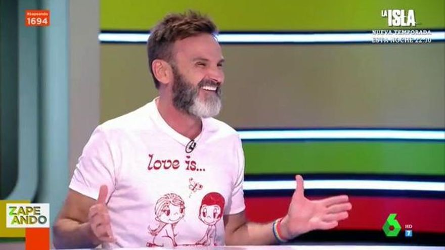 Así reaccionó Fernando Tejero al desnudo de Eduardo Gómez en 'Aquí no hay quien viva'