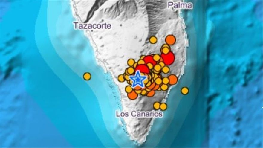 Registrados más 60 sismos en La Palma, varios de magnitud 3.9 en Mazo