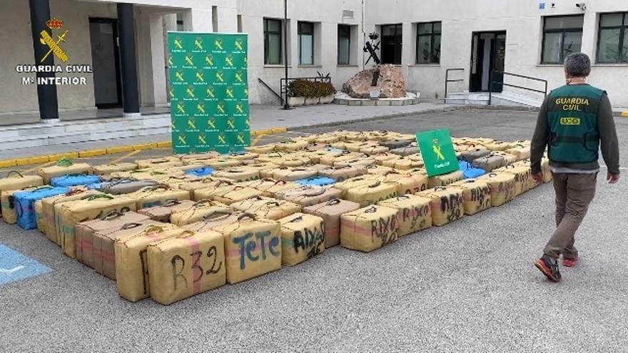 Intervenidas 5 toneladas de hachís a una organización delictiva establecida en España, Marruecos e Italia