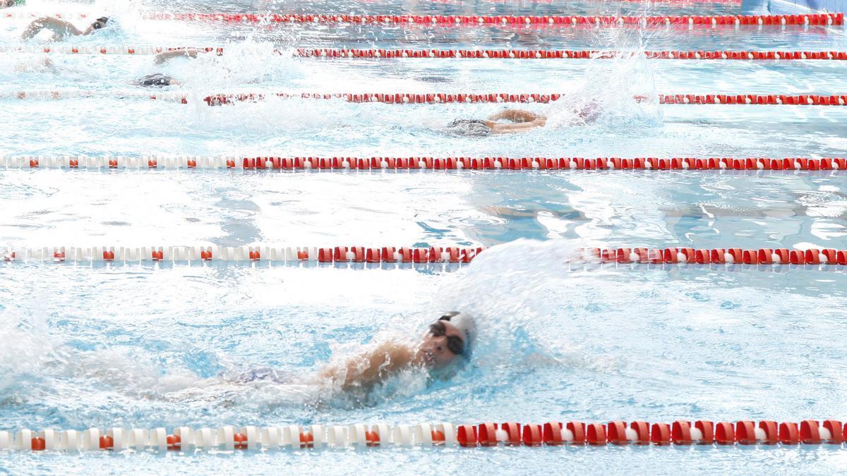 Deportistas durante una competición de natación