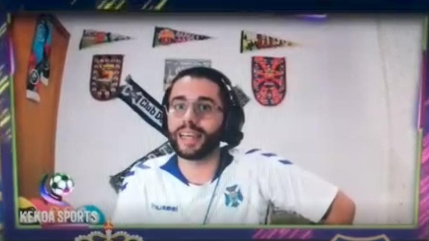 Gran enfado de un YouTuber por el autogol del CD Tenerife que dio la victoria a la UD Las Palmas