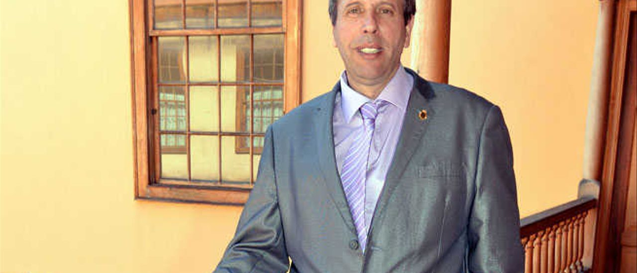 Ángel Bahamontes, ayer.