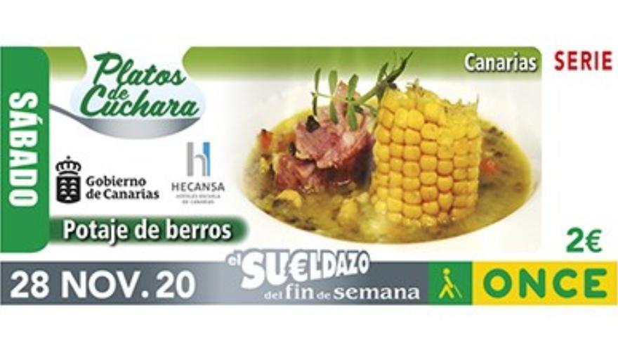 La ONCE presentará este lunes en Tenerife un cupón dedicado al potaje de berros