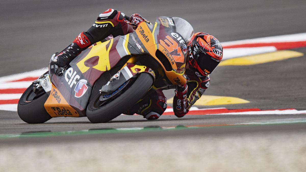Augusto Fernández, en el circuito de Montmeló.