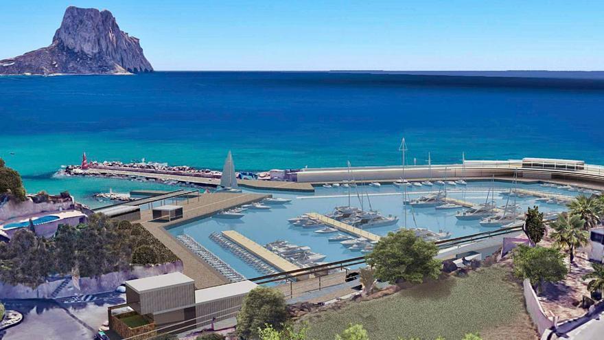 El «nuevo» puerto deportivo de Calp tendrá un gran paseo con vistas al Peñón de Ifach