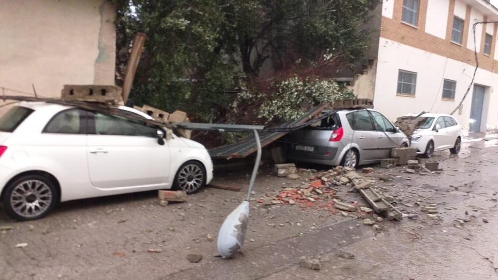 Un tornado provoca daños en Vilamarxant