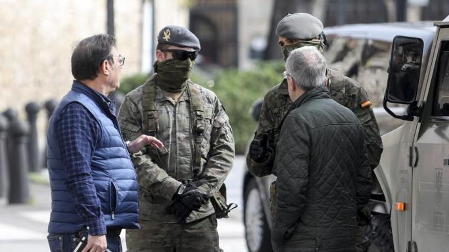 """Soldados del """"Príncipe"""" patrullarán en Oviedo y Gijón durante el estado de alarma"""