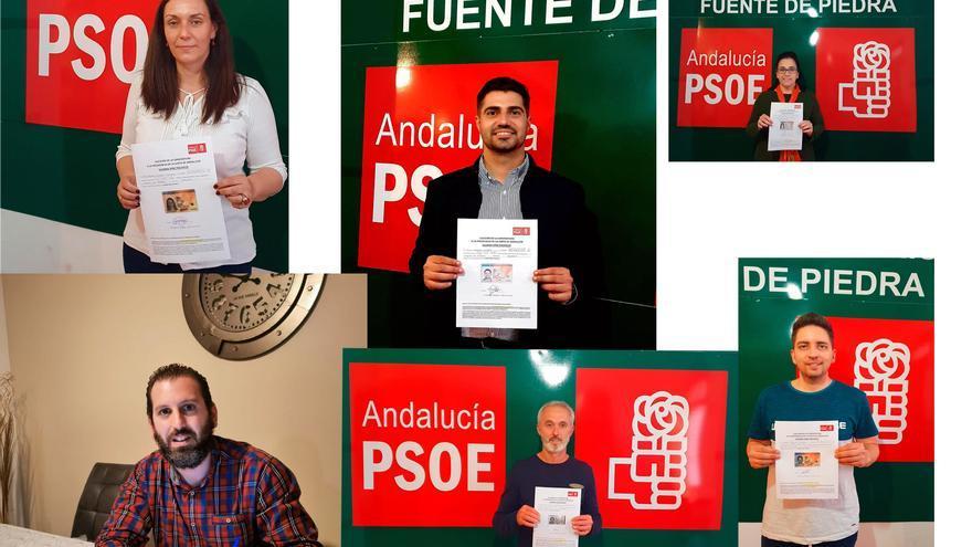 Susana Díaz recibe los avales del alcalde y los ediles socialistas de Fuente de Piedra