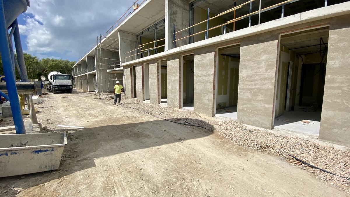 Las obras de construcción del nuevo centro de sa Teulera.