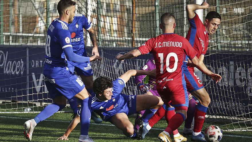 Segunda División B: El Covadonga se desinfla tras perder 0-3 ante el Numancia