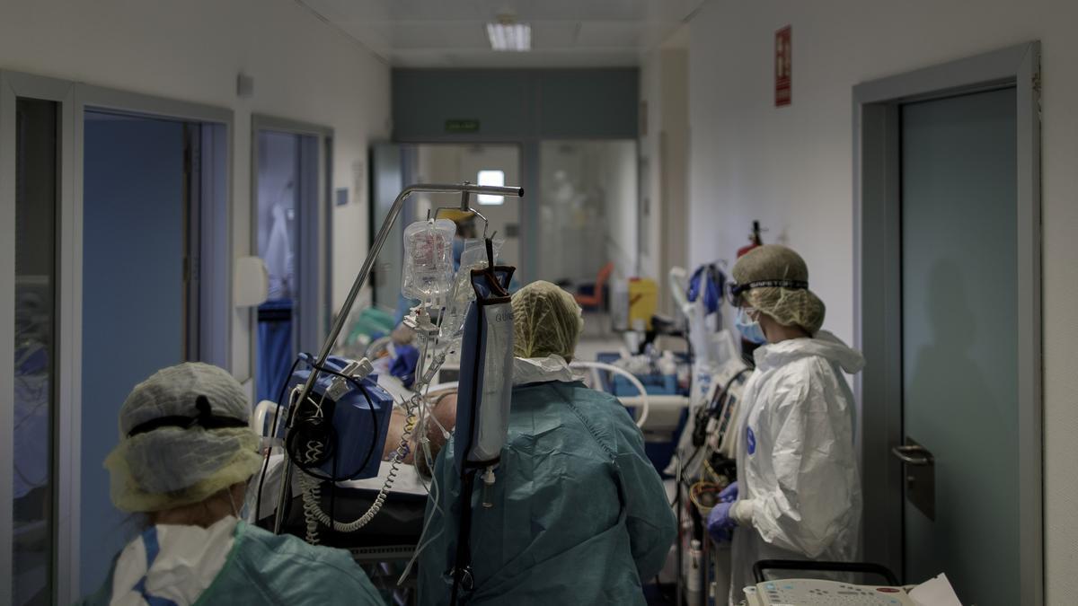 Área covid del Hospital Infanta Sofía de San Sebastián de los Reyes