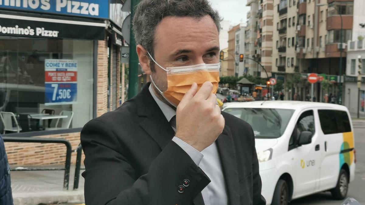Guillermo Díaz, este sábado por la mañana en Fuente Olletas.