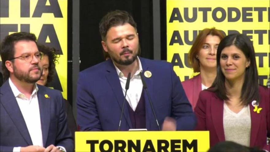 Gabriel Rufián: «L'independentisme ha sentenciat a l'estat»