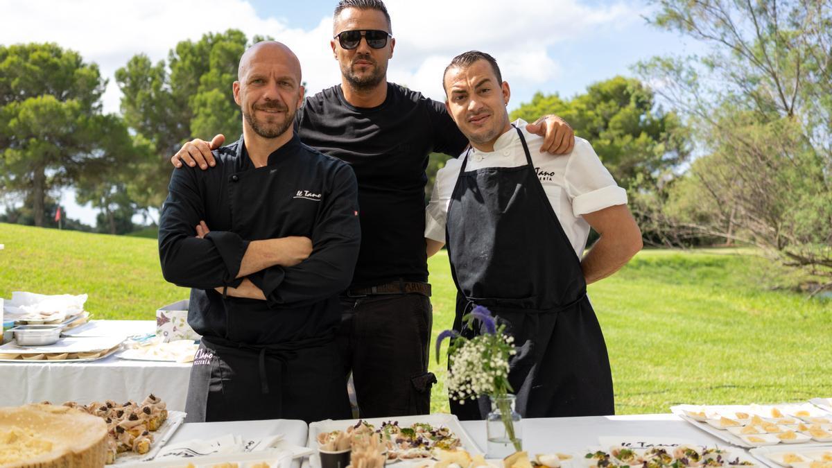 Los restaurantes Il Tano, con su propietario Alessandro al frente, ofrecieron a mediodía un impresionante catering.