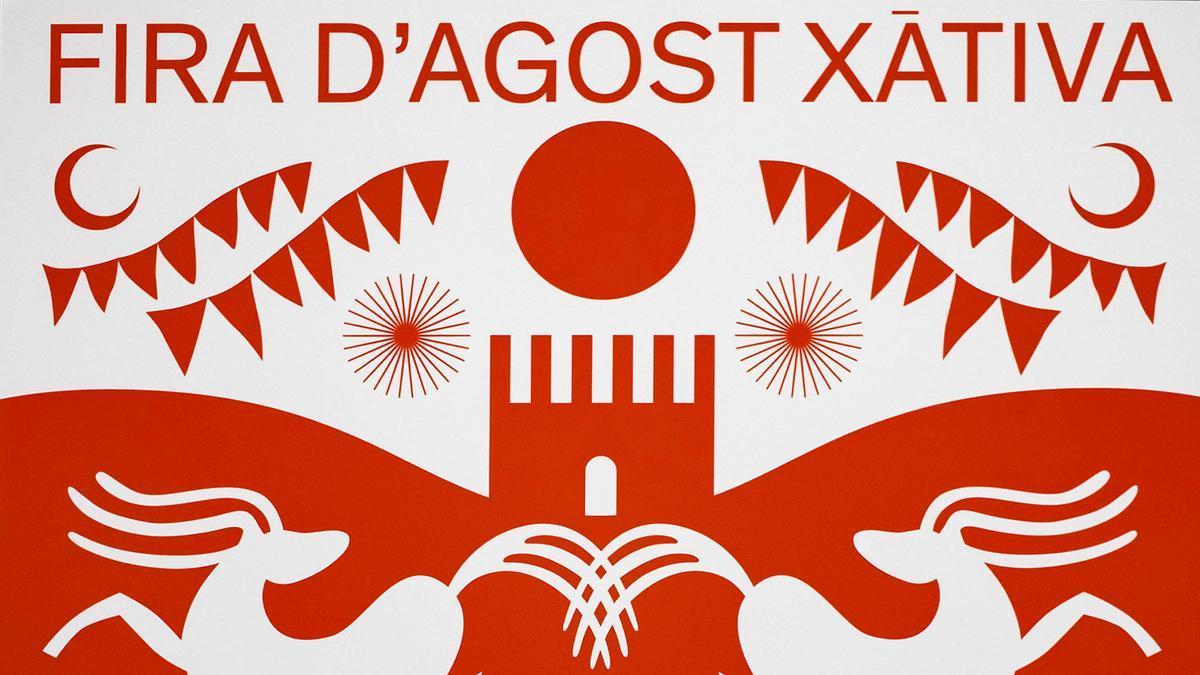 Así es el cartel de la edición 2021 de la Fira d'Agost de Xàtiva