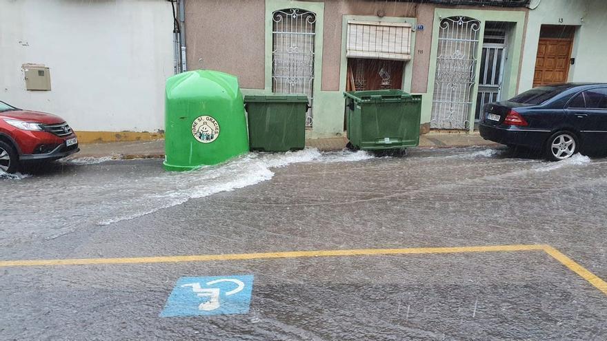 Fuertes tormentas en Nules, La Vall, Almenara y Moncofa