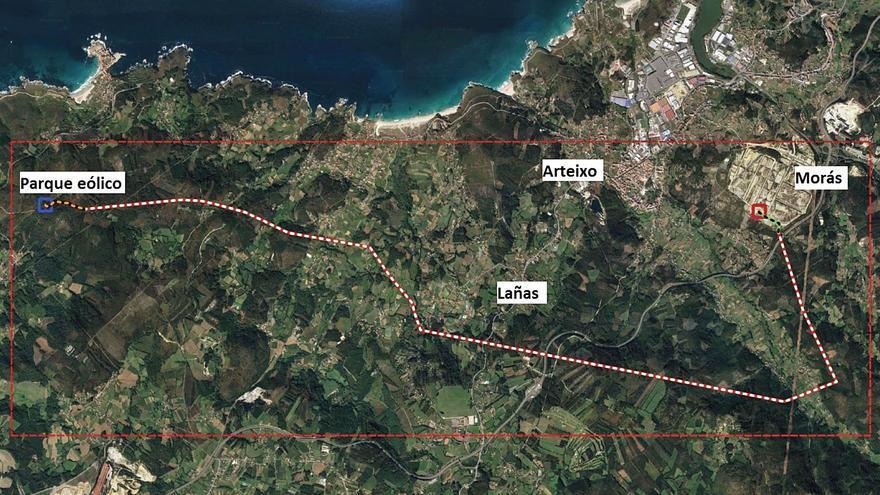 Rechazo frontal de Arteixo a la línea eléctrica entre Monteagudo y el polígono de Morás
