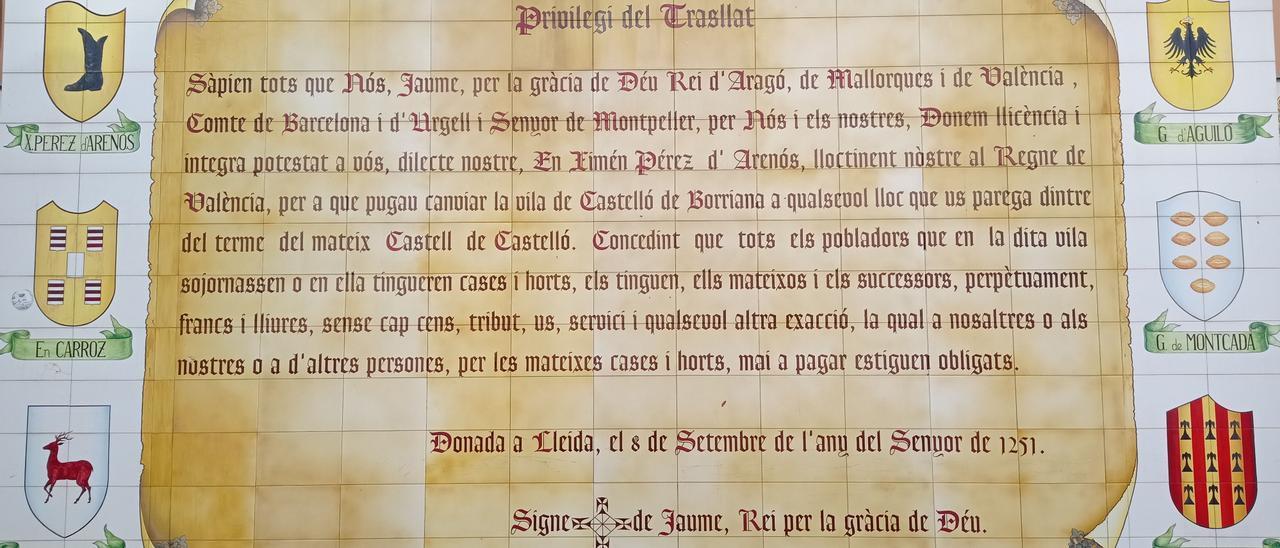 Esta es la programación de actos de las fiestas del 770 aniversario del Privilegio del Traslado de Castelló