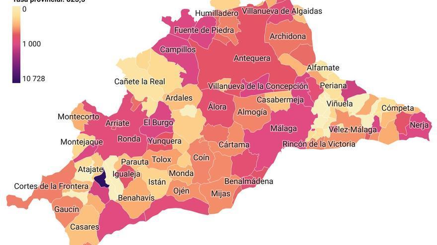 Mapa Covid Málaga 2 de agosto