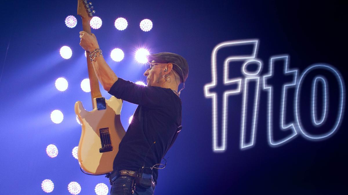 Fito y Fitipaldis, durante su último concierto en Galicia en 2018