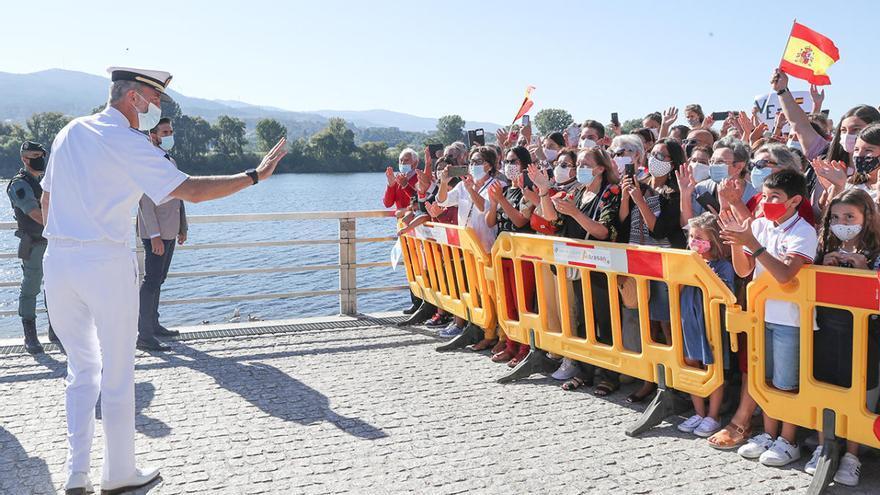 Felipe VI reanuda en Tui su agenda oficial tras el descanso estival
