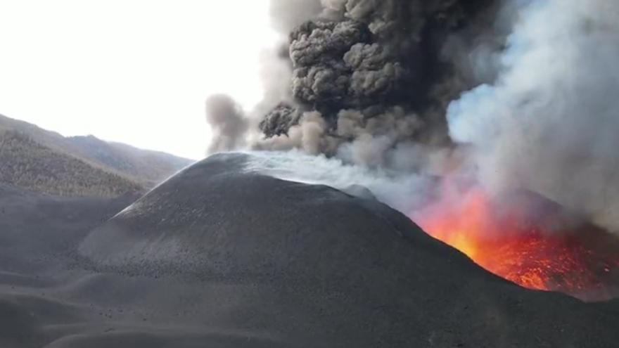 Nueva estructura del cono del volcán de La Palma