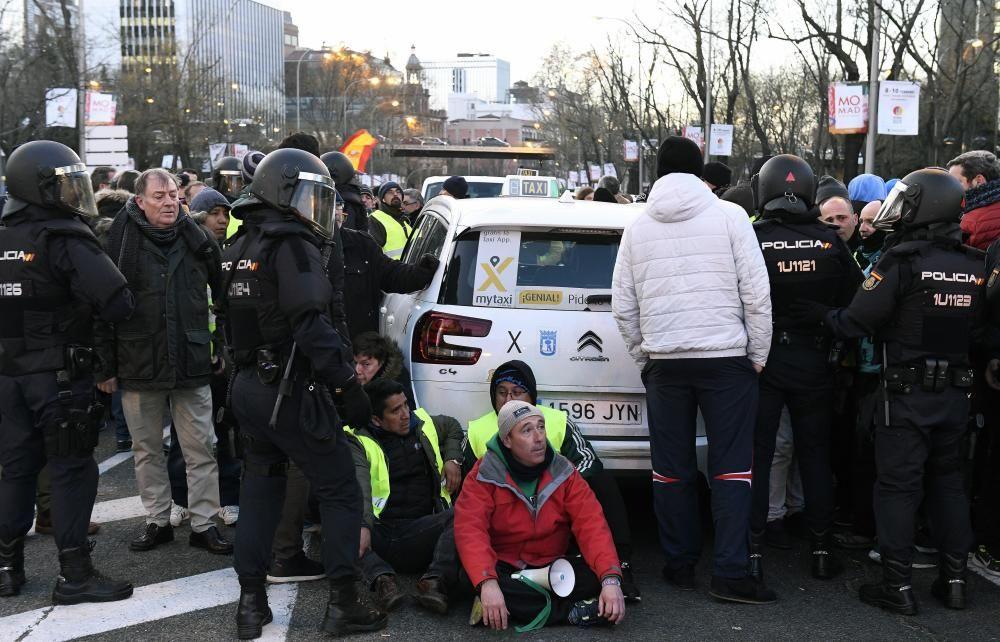 Huelga de taxis en Madrid