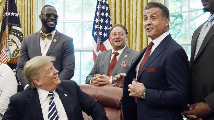 ¿Qué hacen juntos Donald Trump y Sylvester Stallone?