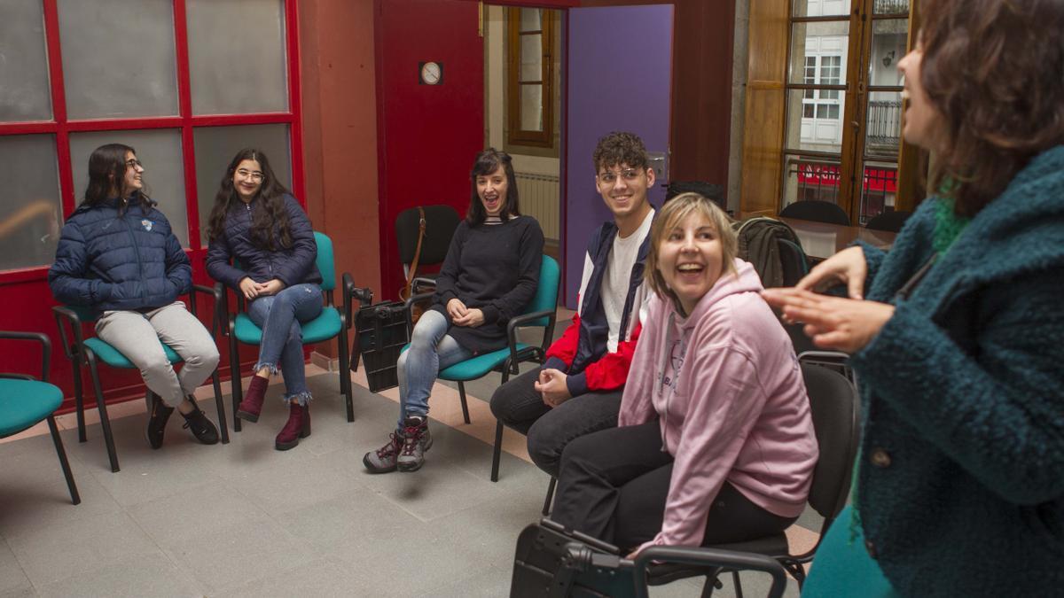 Una charla sobre asociacionismo del programa Aquelar, en 2019. //Bernabé/Ana Agra