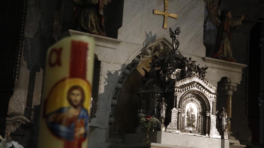 La Basílica ilumina sus reliquias