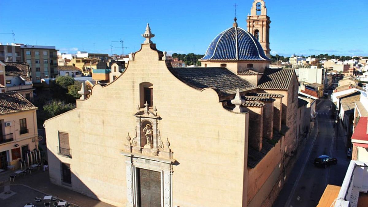 Iglesia de Sant Bertomeu, el primer templo cristiano de Godella, del siglo XVIII. | L-EMV