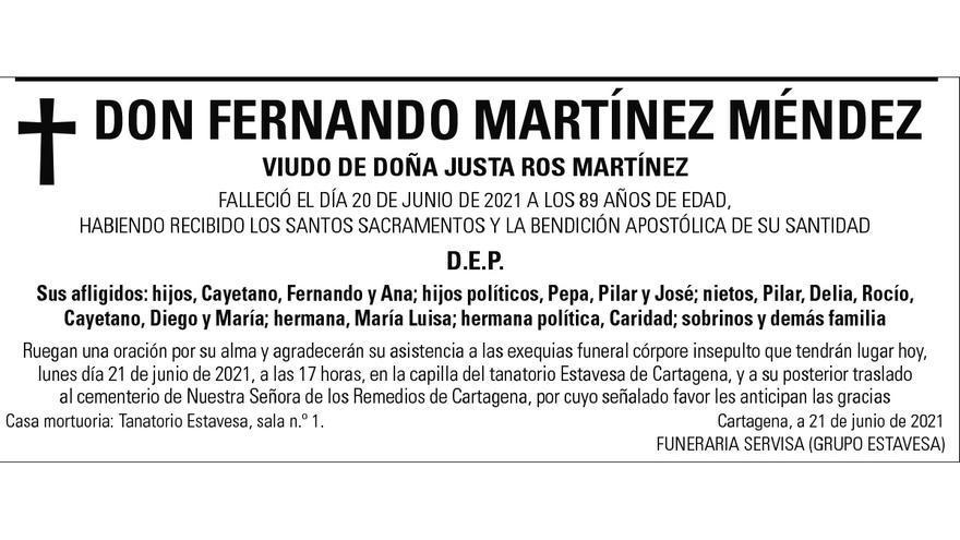 D. Fernando Martínez Méndez
