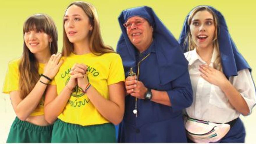 Un musical en Petrer con la actriz Pepa Sarrió en el papel de Madre Bernarda