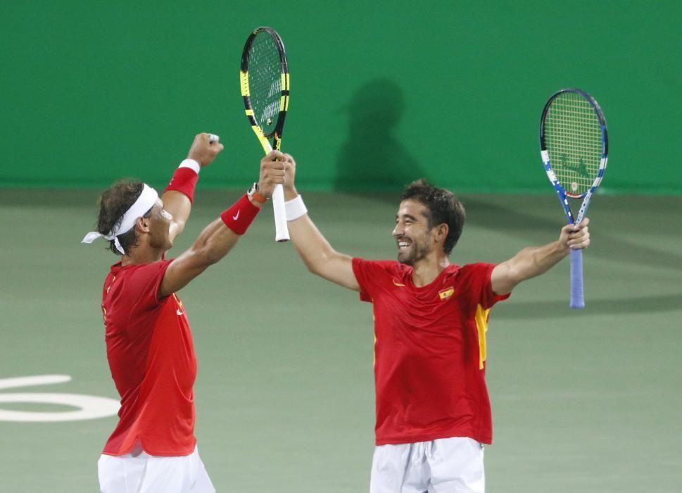 Rafa Nadal y Marc López pasan a semifinales