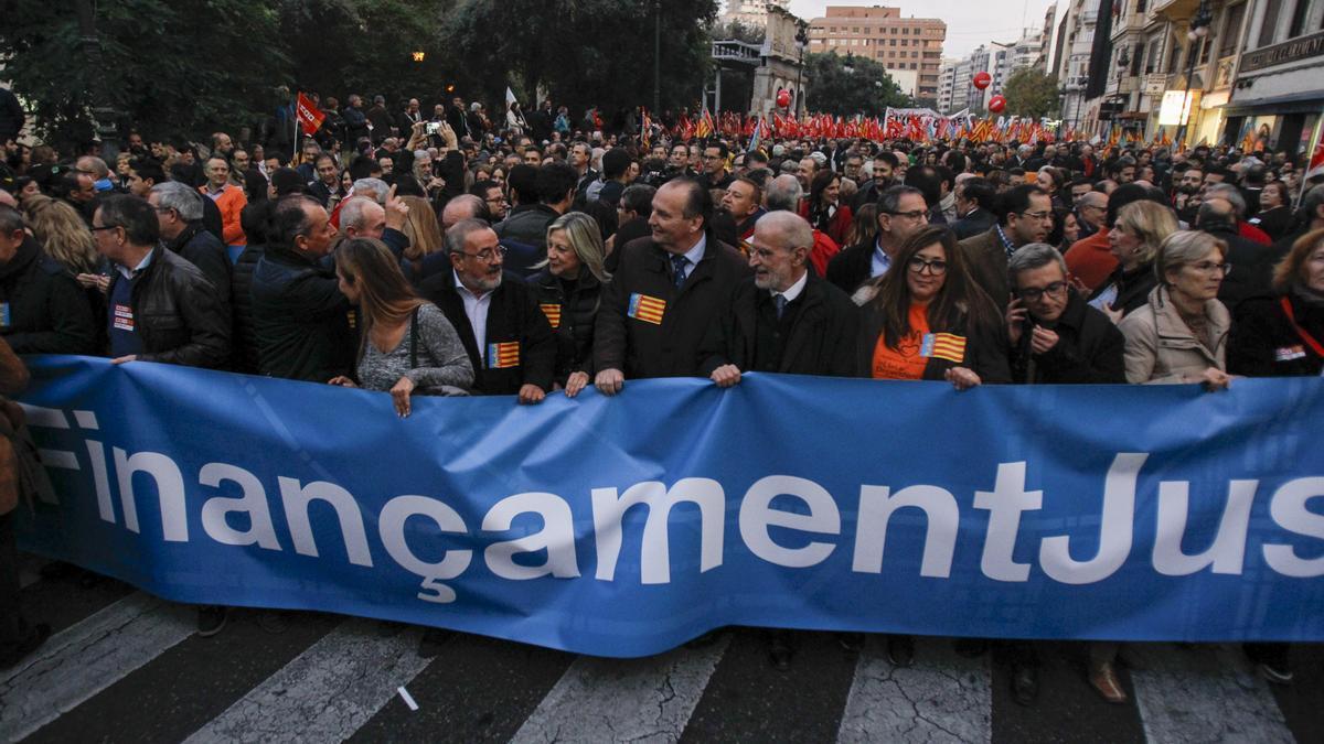 Manifestación por la financiación de 2017.