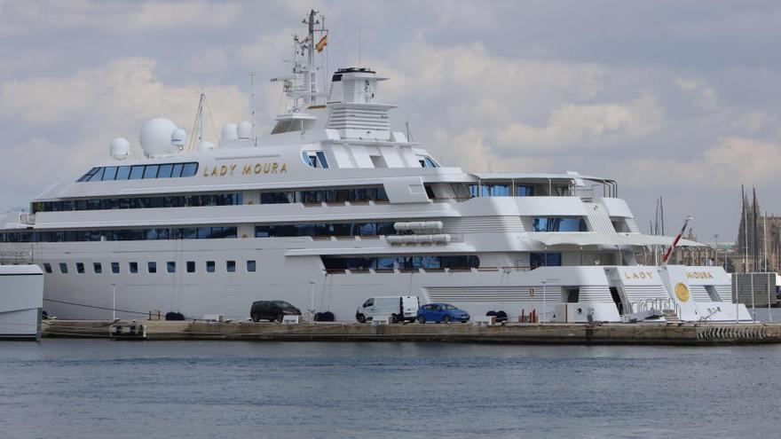 "200-Millionen-Yacht ""Lady Moura"" ist zurück in Palmas Club de Mar"