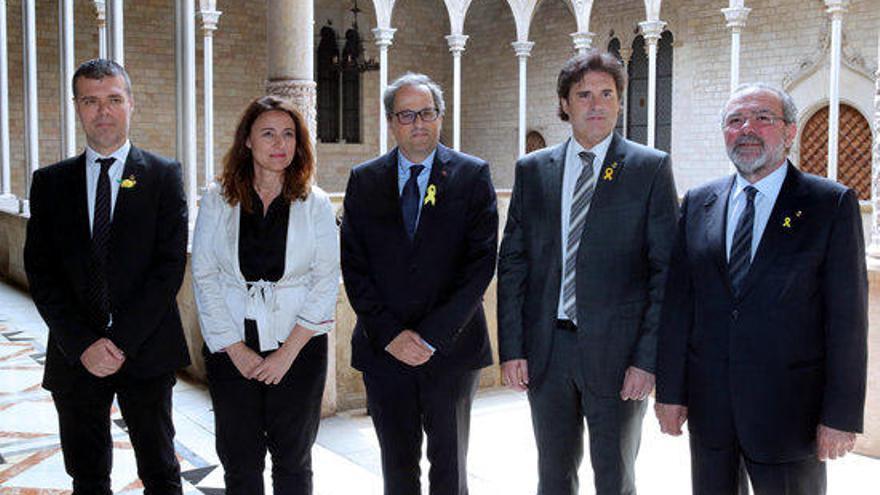Torra rep les quatre Diputacions catalanes al Palau de la Generalitat