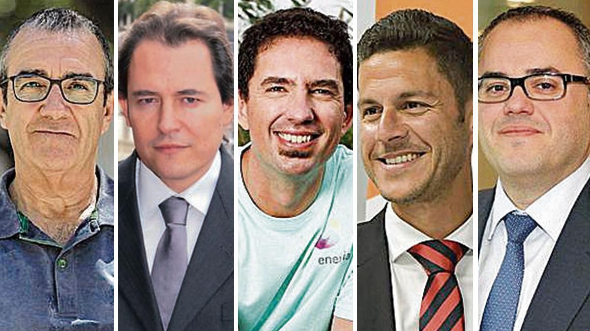 Juan Pedro Yllanes, Robert Casajuana, Joan Grande,  Othman Ktiri y David Rodríguez