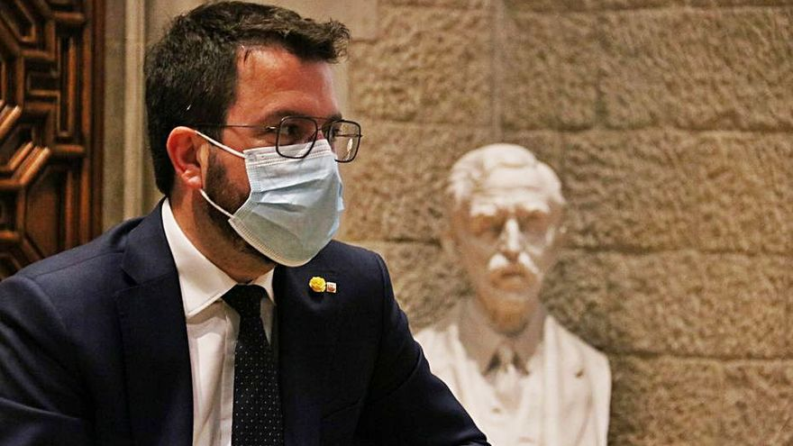 Pere Aragonès planta avui el Rei però el Govern suavitza el veto