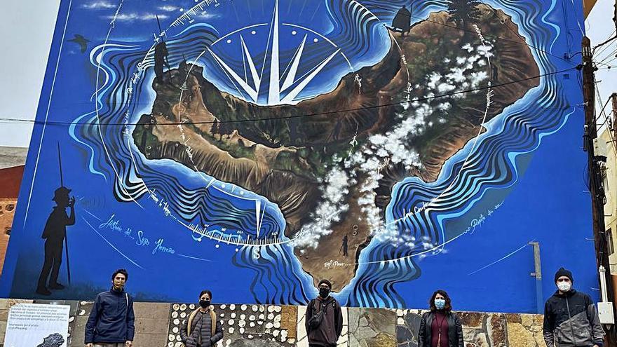 El municipio herreño de El Pinar estrena un mural gigante