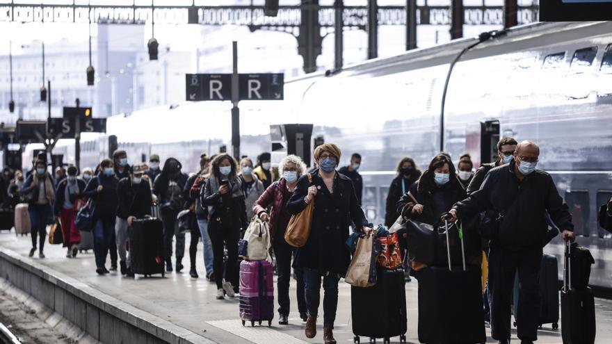 El despertar del tren de noche en Francia